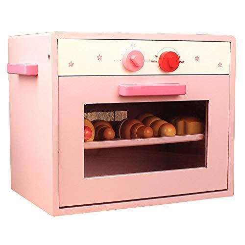 Yifuty Kinder Spielzeug Kitchen Set Baby-Kochen Mikrowelle for Kinder Jungen und Mädchen Simulation Küchen Spiel-Haus 300 * 200 * 258mm (Color : Rosa)
