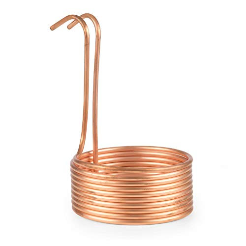 Klarstein Chiller Kühlspirale Eintauchkühler Maische-Kühler, Schleifendurchmesser Ø22,4 cm, Zubehör zum Biermaischen, 10 Schleifen, Innen-/Außendurchmesser 7/10 mm, Kupfer