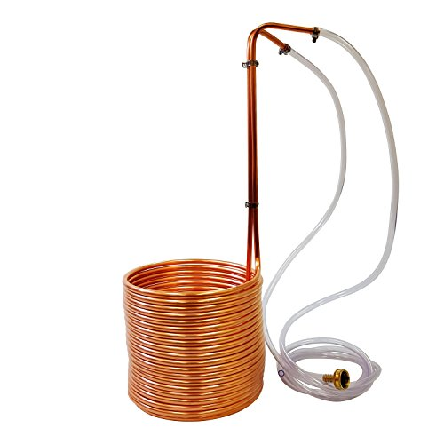NY Brew Supply W3850-CV Super Efficient Copper Wort Chiller - 3/8 in. x 50 ft.
