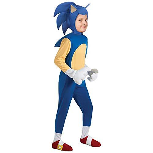 Evin Costumi per Bambini Costumi Cosplay Hedgehog Sonico Anime Boy Girl Fase Costumi di Carnevale di Halloween della Festa di Compleanno,2,S