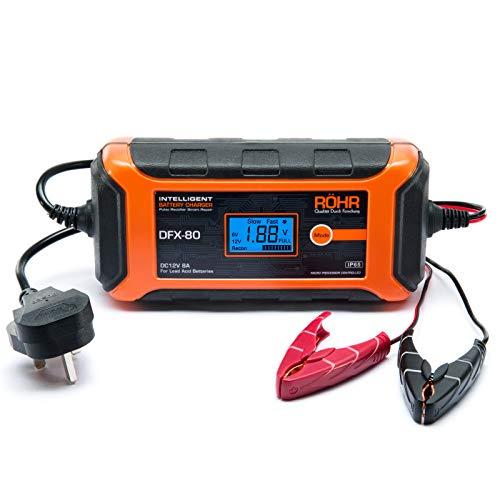 Röhr Car Battery Charger 8 Amp 12V DFX-80 Intelligent Turbo/Trickle with...