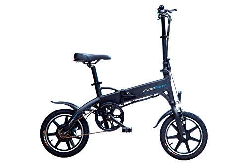 SKATEFLASH - Bicicleta Eléctrica SK Urban Mini [Plegable] [Regalo Casco y Guantes skateflash] Potencia -250W - Bateria LG Litio 36V 7.8 Ah - 40 Km de autonomía - Color Negro