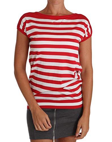 Dolce & Gabbana Camiseta de Seda Rayas Blanco TSH2383