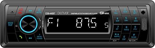 Denver CDB-440BT Autoradio mit DAB+, Bluetooth, USB, SD-Karte, AUX schwarz
