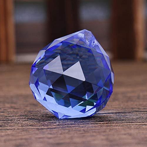 Okuyonic Bolas de Cristal Multicolores, Piezas de candelabro impecables, espectáculos de Bodas, Ventanas de jardín para la Oficina en casa(Blue)