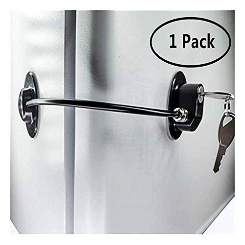 Deuren En Ramen Limiter, Beveiliging Koelkast Deurvergrendeling Met 2 Sleutels, Drawer Deur Cabinet Toilet Lock (Color : Black)
