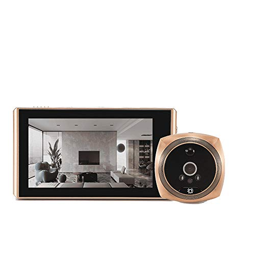 household items Timbre de Video, videoportero con Pantalla de cámara Cat-Eye de Alta definición de 4.3 Pulgadas, videoportero con visión Nocturna, Kit de Timbre