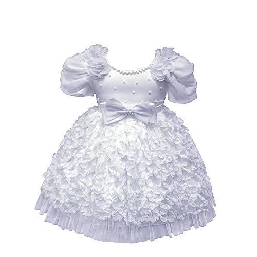 XFentech Vestido de Princesa - Niñas Bowknot Belleza Princesa Cuentos de Hadas Disfraces para Niños,Blanco,12M(7-12 Meses)