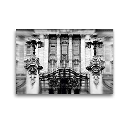 CALVENDO Premium Textil-Leinwand 45 x 30 cm Quer-Format Buckingham Palace, Leinwanddruck von Reiner Silberstein