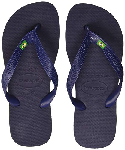 Havaianas Unisex Adults' Brasil Flip Flops, Blue (Navy Blue 0555), 8.5 UK