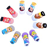 Baby Boys Superhero Character Socks: Batman and Justice League 5 Pack (S) for 0-12 months baby boy