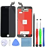 LanSupp Pantalla para iPhone 6s Plus Táctil LCD Pantalla Reemplazo Ensamblaje de Marco Digitalizador con Herramientas de Reparación(Negro)