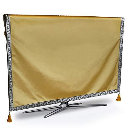 FEIYUGN TV LCD Cubierta de Monitor de Guardapolvos Color sólido Inicio del Arte del paño FEIYU (Color : Champagne, Size : 52 Inches)