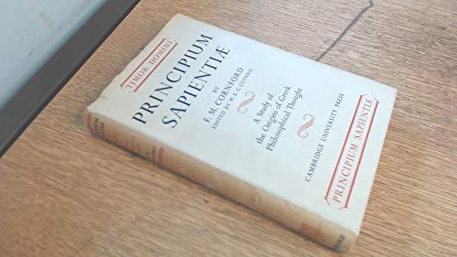 Principium Sapientiae: The Origins of Greek Philosophical Thought.