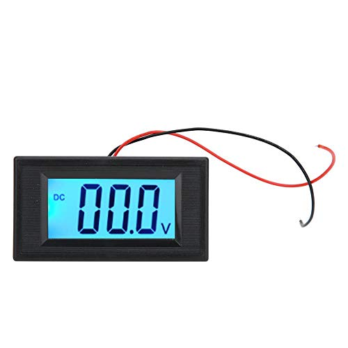 Pantalla digital LCD Medidor de voltaje de CC de dos cables Monitor Voltímetro Panel de voltaje Módulo de visualización Medición precisa Probador de voltaje Mini medidor Sin exposición(DC3.5V-