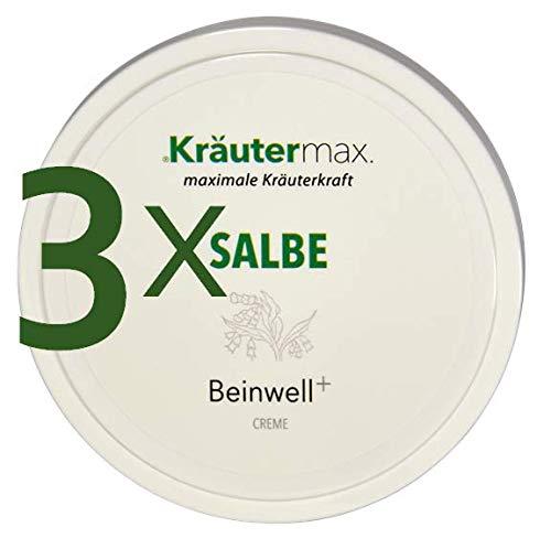 Kräutermax Beinwell Salbe 3 x 100 ml - Hautcreme zum Einreiben