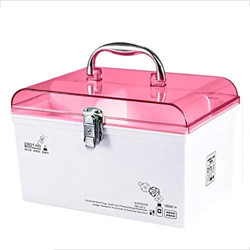 GJ-yh Boîte à Pharmacie avec clés de sécurité et boîte à pilules Portable Ménage Grande capacité Petite Urgence médicale Maison de Rangement for Enfants Kit de Premiers Secours (Color : B, Size : L)