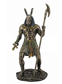10.75  Egyptian Seth Sculpture Figurine Ancient Egypt God Statue Decor Darkness