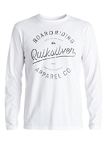 Quiksilver Rhino Chase T-Shirt manches longues Homme Blanc FR : L (Taille Fabricant : L)