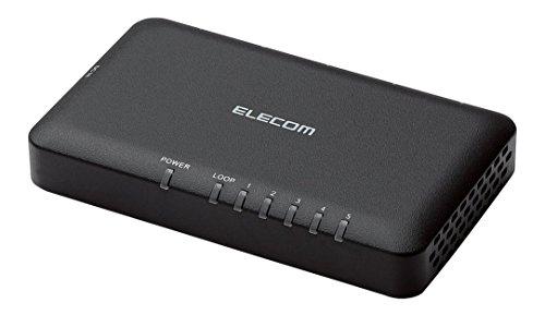 エレコム スイッチングハブ ギガビット 5ポート AC電源 小型 EHC-G05PA-SB ブラック