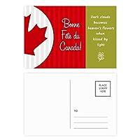 カナダメープルと幸運をカナダ 詩のポストカードセットサンクスカード郵送側20個
