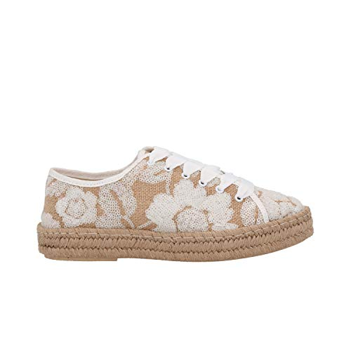 FRAU Scarpe Donna Sneakers Espadrillas Basse Corda 82J3 Nuvola (40 EU)