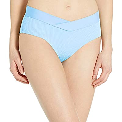 Body Glove Women's Nuevo Retro High Rise Bikini Bottom Swimsuit, Ibiza Ribbed Angel, Medium