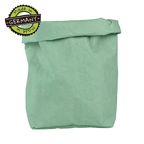 papyrMAXX oprolbox Stuff maat XXL duurzaame veelzijdige-mand van wasbaar papier 0,55cm sterk I Opslagmand voor bad - en kinderkamer etc. I cadeaubuidel planten planter mint