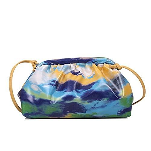 QIANJINGCQ bolsa de mensajero versátil multicolor graffiti nube bolsa de diseño de moda personalidad bolso de cadena para mujer bolso de hombro fresco mochila