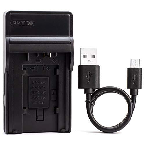 LP-E5 USB Cargador para Canon EOS 1000D, EOS 450D, EOS 500D, EOS Kiss F, EOS Kiss X2, EOS Kiss X3, EOS Rebel T1i, EOS Rebel XS, EOS Rebel Xsi Cámara y Más
