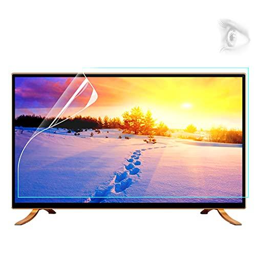 Protector de pantalla de TV, panel protector de pantalla de luz anti-azul de 32-75 pulgadas de filtro anti deslumbramiento Aliviega la cepa de ojo para LCD, LED, OLED & QLED 4K HDTV,37'(819*460mm)