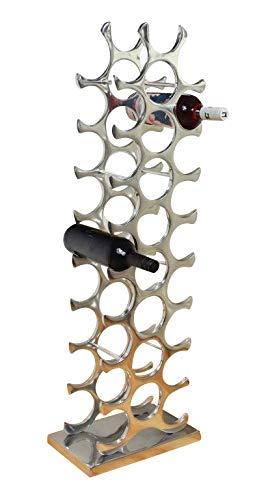 MichaelNoll Weinregal Flaschenregal Regal Flasche Aluminium Silber 101 cm XXL