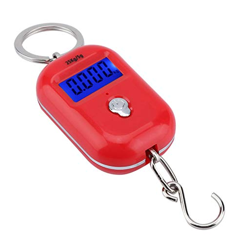 Balance électronique durable 25 kg / 5g porte-clés de poche crochet de poids Balance électronique portable pour peser les légumes