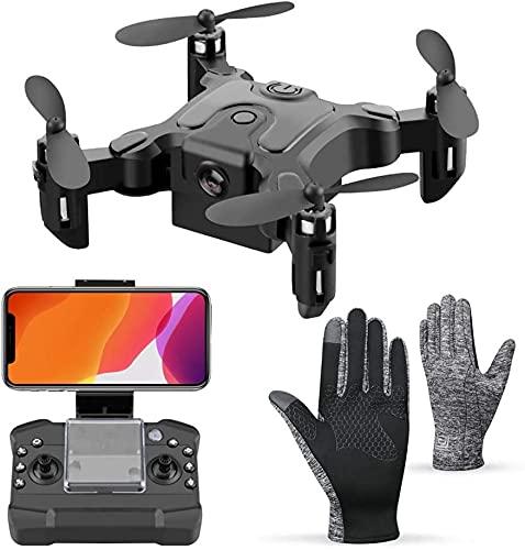 Pliers Mini Quadcopter Plegable, RC Drone, con la operación de WiFi automática, WiFi Mobile, 360DEG; Flips, Ajuste de 3 velocidades y 5 Juguetes Extra de baterías for Personas Mayores de 14 años