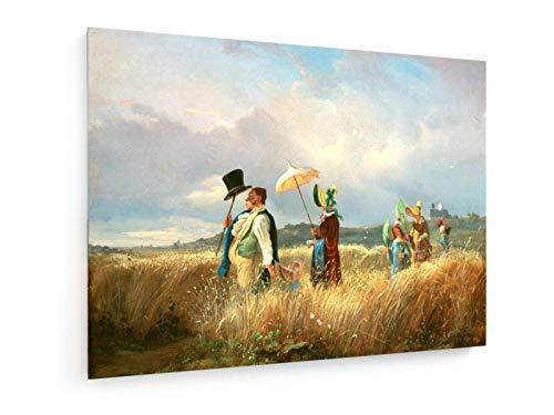 Carl Spitzweg - Der Sonntagsspaziergang - 1841-40x30 cm - Leinwandbild auf Keilrahmen - Wand-Bild - Kunst, Gemälde, Foto, Bild auf Leinwand - Alte Meister/Museum