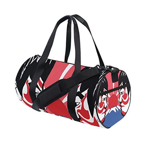 ZOMOY Sporttasche,Sumo Japanese Wrestling Sport,Neue Druckzylinder Sporttasche Fitness Taschen Reisetasche Gepäck Leinwand Handtasche