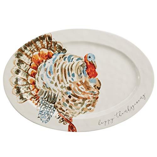 Mud Pie Watercolor Turkey Platter