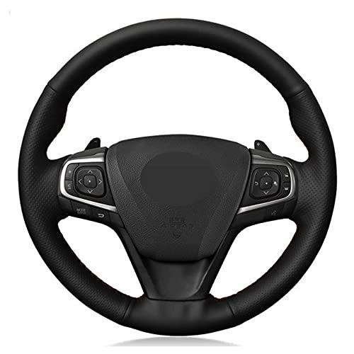 BTOEFE Cubierta del Volante del Coche de Cuero Negro DIY, para Toyota Camry 2015-2017 Avalon 2013-2018 Avensis 2015-2018