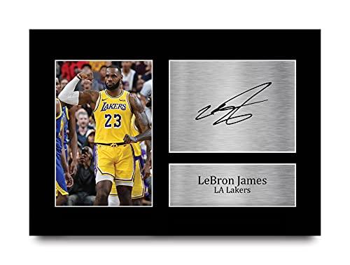 HWC Trading Lebron James Los Angles Lakers Gifts - Imagen de autógrafo firmada para Fans de Baloncesto (tamaño A4)