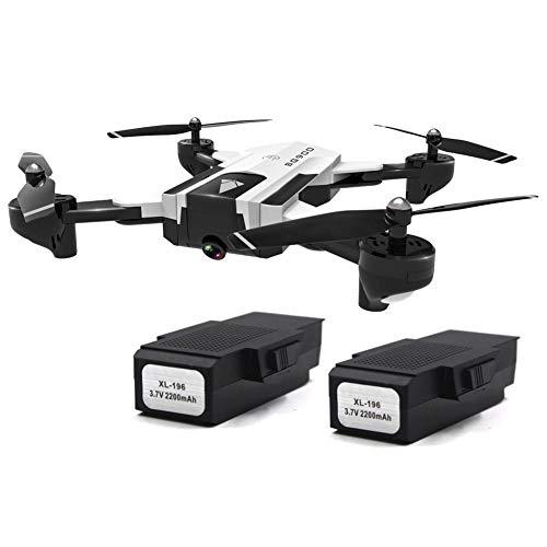 Fancylande RC-drone met dubbele camera, live video 4K HD quadcopter, inklapbare optische doorstroming positie drone met afstandsbediening efficiënt