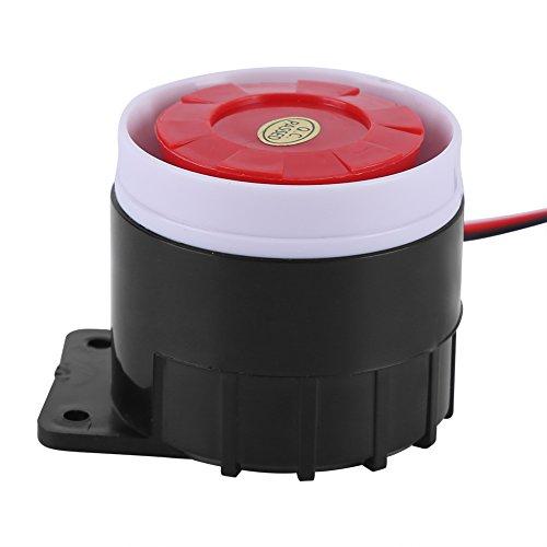 Alvinlite Sirena de Alarma, Mini Sirena de bocina con Cable Fuerte Sistema de Alarma de Sonido de Seguridad para vehículos en el hogar Obtenga uno en casa para Mejorar la Seguridad