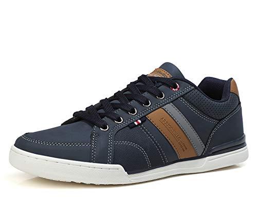 AX BOXING Sneakers Hombre Zapatos Casual Zapatillas Moda Ligero Deporte Gimnasio Running Tamaño 41-46 (Azul, Numeric_41)