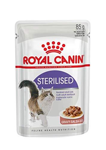Royal Canin - Comida esterilizada para gatos en bolsa de gris, 12 x 85 g