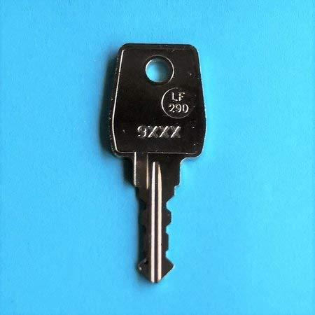 Ersatzschlüssel für Briefkasten von Allebacker, Heibi, Kunz und Lippert. Schlüsselcode von 9001 bis 9500. Schlüssel 9-012