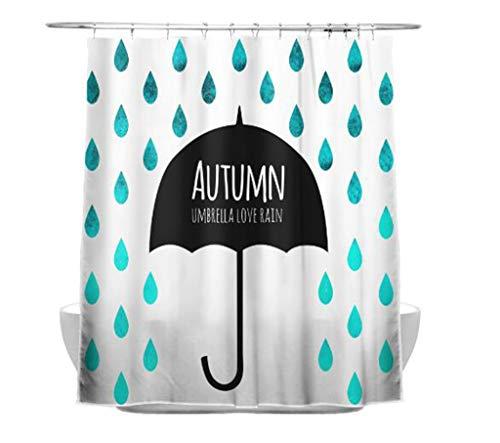 n Sweetenlife Estilo nórdico nuvem à Prova dwaterproof água Cortina de chuveiro chuva poliéster tecido Cortina do banheiro 12 ganchos Novas cortinas banho
