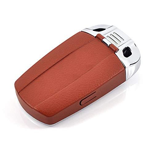 Hezholji sleutelbehuizing voor autosleutels, stabiele prestaties, geen vervorming, vervaagt niet, kan niet vallen, Koffie (bruin) - 6946412995098