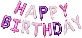 بالونات حروف الأبجدية الأرجوانية 40.64 سم زينة حفلات عيد ميلاد سعيد من رقائق الألومنيوم بالون غشائي