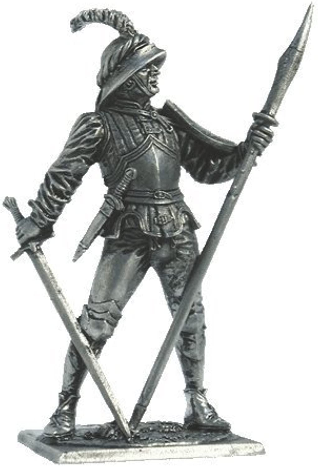 Swiss Foot Soldier Tin Toy Soldiers Metal Sculpture Miniature Figure Collection 54mm (Scale 1 32) (M169)