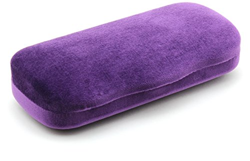 New Gucci Velvet Hard Clam-shell Case, 2017 Collection. (Medium, Purple)