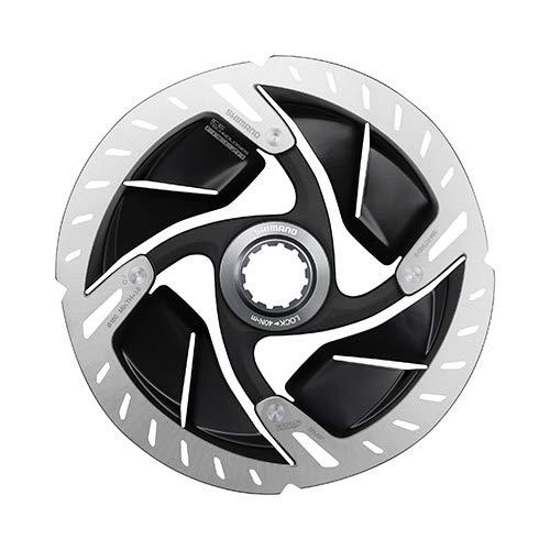 SHIMANO Unisex– Erwachsene Bremsscheibe-2090327220 Bremsscheibe, schwarz, 160mm